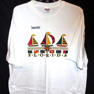 "Treasure Island Florida Tourist Sailboat Shirt ""99"